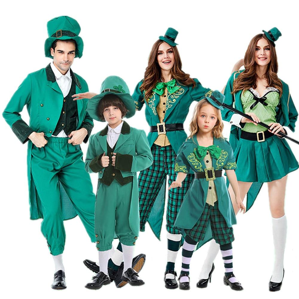 MENS IRISH PRIEST GREEN COSTUME SAINT PATRICK BISHOP VICAR FANCY DRESS PARTY