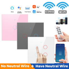 1/2/3/4 Gang Smart Light Switch Resists Scratches WIFI Glass Screen Touch Panel Wireless Voice Control Wall Switches Smart Home