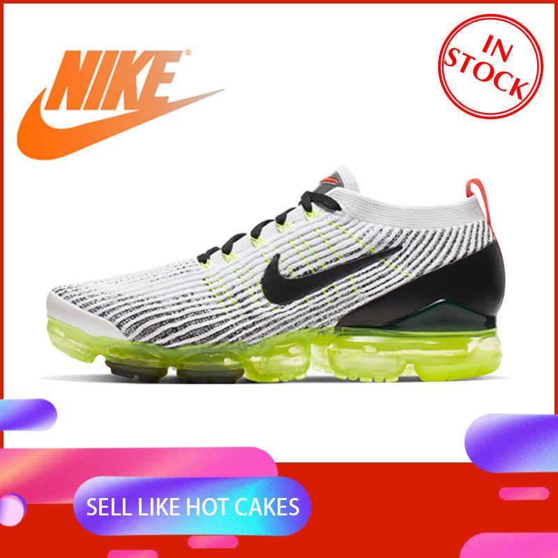 Oryginalny prawdziwe Nike FLYKNIT VAPORMAX powietrza 3 męskie buty do biegania sportowe na świeżym powietrzu amortyzacja oddychająca AJ6900-100