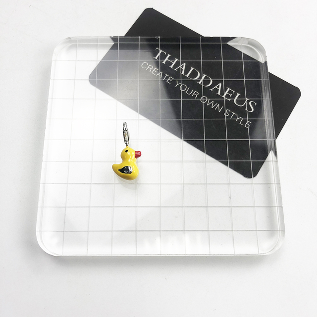 Fashion Lobster Clasp Charms Yellow Enamel Duck Pendants Animals DIY Silver 925 Charms For Jewelry Making Accessories Wholesale