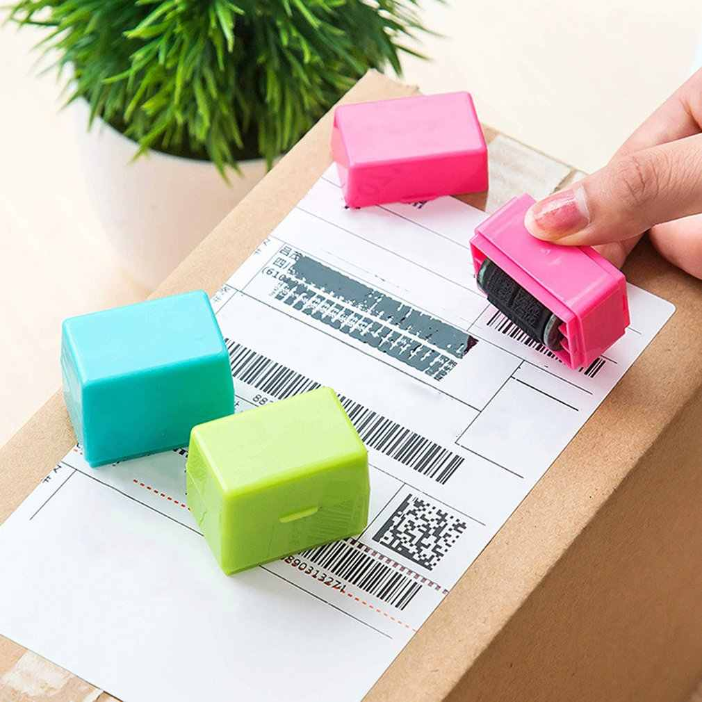 Roller Jenis Aman Tersembunyi ID Kacau dari Tinta Stempel Karet untuk Melindungi Pencurian Identitas Bar Rahasia Seal