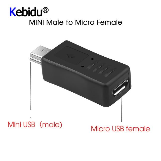 5 pièces Micro USB femelle à Mini USB adaptateur mâle connecteur convertisseur adaptateur dernier pour les câbles de téléphone PC