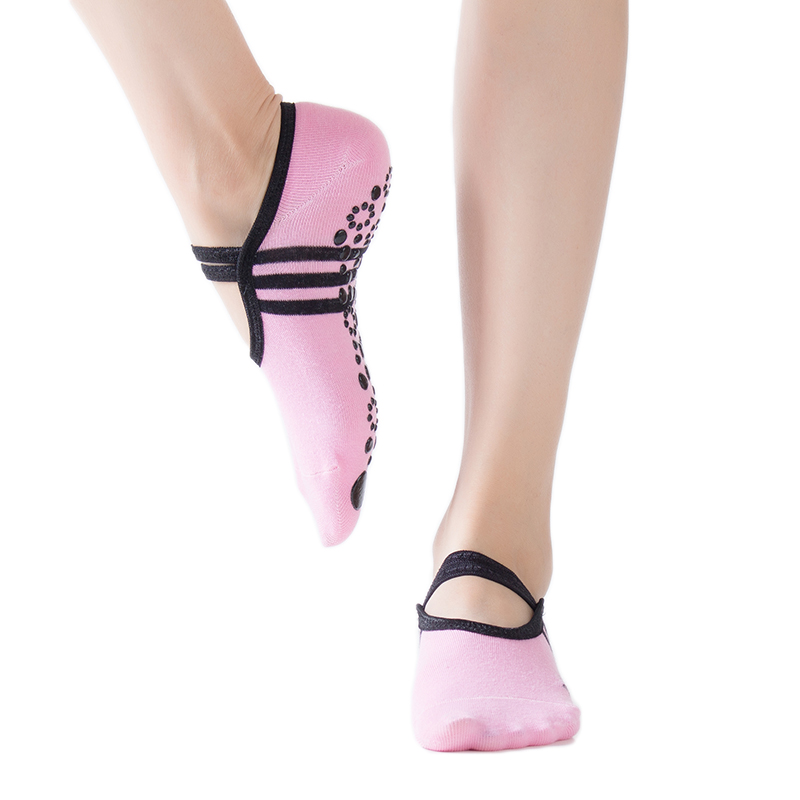 1 Pair 6 Colors Women Yoga Socks Quick-Dry Anti Slip Silicone Gym Pilates Ballet Socks Fitness Sport Socks Cotton Breathable