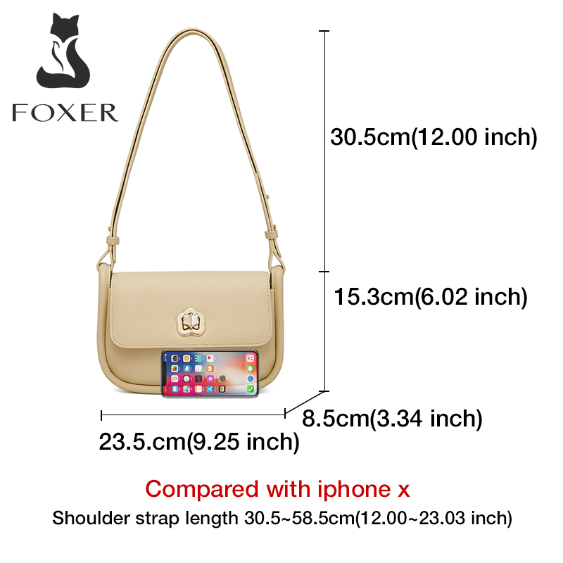 Foxer Paty Leather Women Messenger Bag