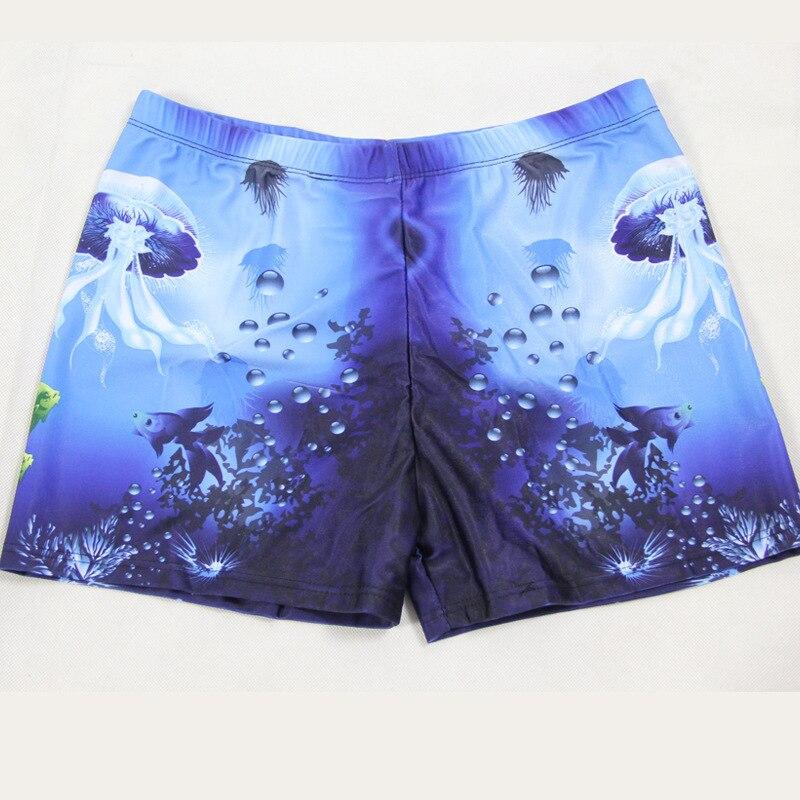 Fashion Underwater World Quick-Drying Digital Printing Swimming Trunks Men Casual Conservative AussieBum