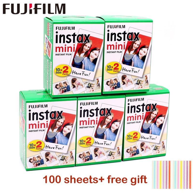 Пленка Fujifilm instax mini 9, 10-100 листов, с белым краем, ширина 3 дюйма, пленка для мгновенной камеры mini 8, 7s, 25, 50s, 90, фотобумага