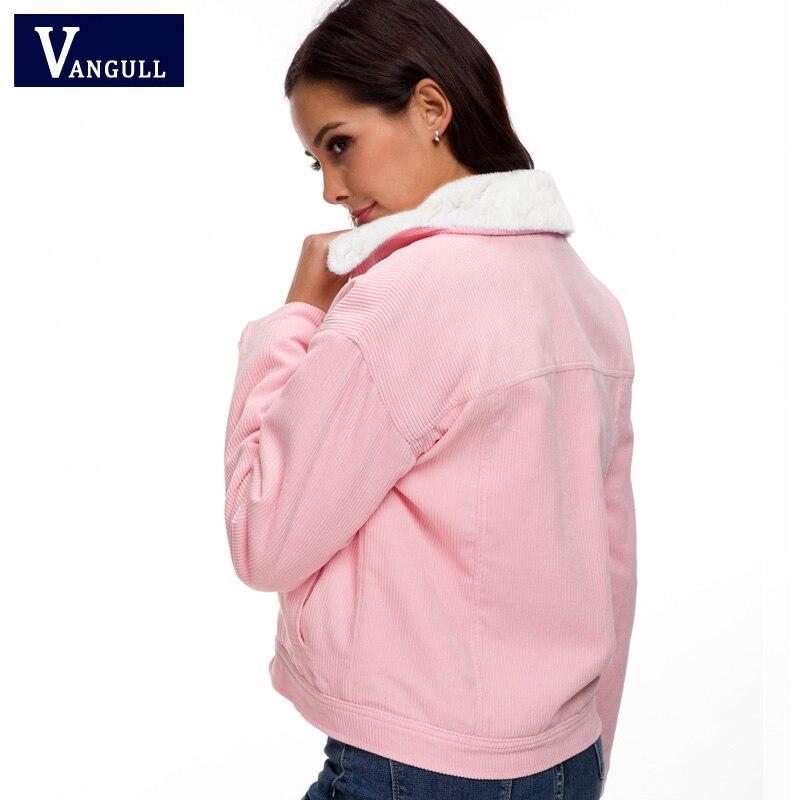 Hbfea15560cbe49afbc8df7bb48a78e7fU VANGULL Women Winter Jacket Thick Fur Lined Coats Parkas Fashion Faux Fur Lining Corduroy Bomber Jackets Cute Outwear 2019 New