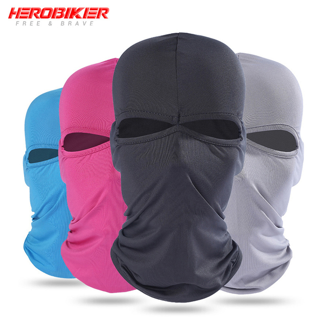 HEROBIKER Motorcycle Face Mask Unisex Summer Breathable Balaclava Moto Mask Motorcycle Ski Paintball Tactical Face Shield Hood