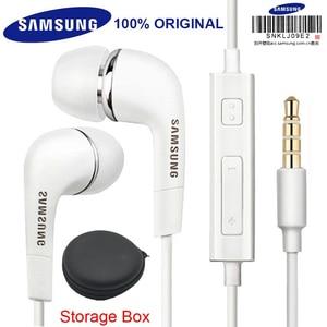 Image 1 - Cuffie Samsung originali EHS64 con microfono incorporato 3.5mm in Ear cuffie cablate per smartphone con regalo gratuito