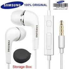 Oryginalne słuchawki Samsung EHS64 słuchawki z wbudowanym mikrofonem 3.5mm słuchawki douszne do smartfonów z bezpłatnym prezentem