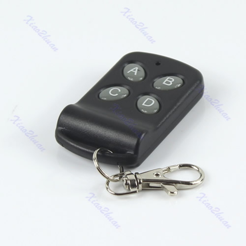 New Black 315MHz 200M 4 Buttons Wireless <font><b>Remote</b></font> Controller <font><b>Control</b></font> Keychain 634A image