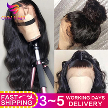 OYM HAIR Body Wave 13x4 Lace Front Human Hair Wigs For Black Women Pre Plucked Hairline 150% Lace Front Wig Brazilian Remy