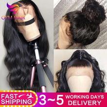 Pelucas de cabello humano con frente de encaje 13X4 pelucas con frente de onda de encaje Remy brasileño pre arrancadas pelucas con minimechones para mujeres 150%