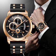 Lige novo clássico preto dos homens relógios marca superior relógio de luxo para o homem militar silicone à prova dwaterproof água relógio de quartzo relogio masculino