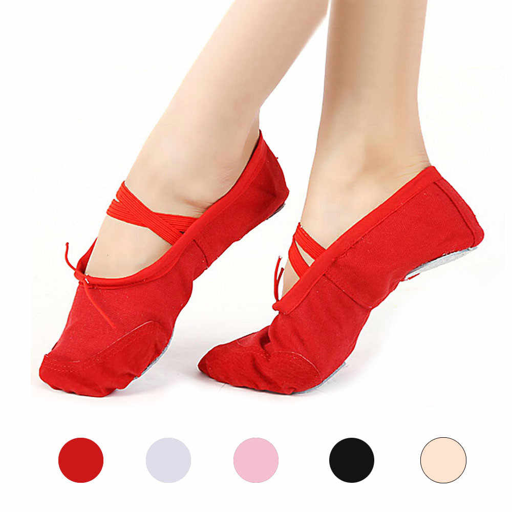 Chaussures femme ballerines adultes toile Ballet danse chaussures chaussons Pointe gymnastique dames chaussures Zapatos De Mujer