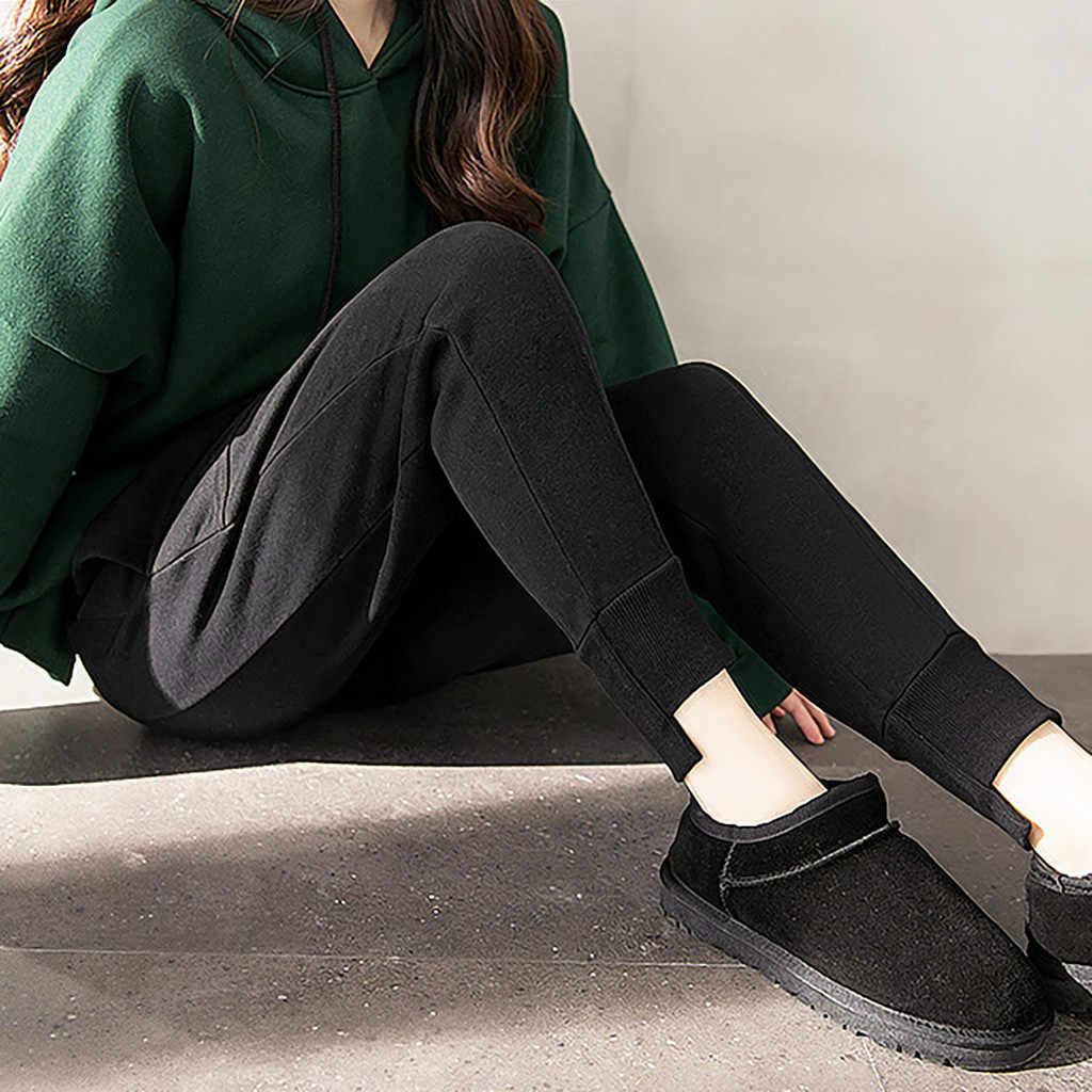 Broek Vrouwen Lange Solid Hoge Taille Elastische Pocket Casual Potlood Broek Herfst Wilde Fit Pantalones Mujer Cintura Alta OY41 *