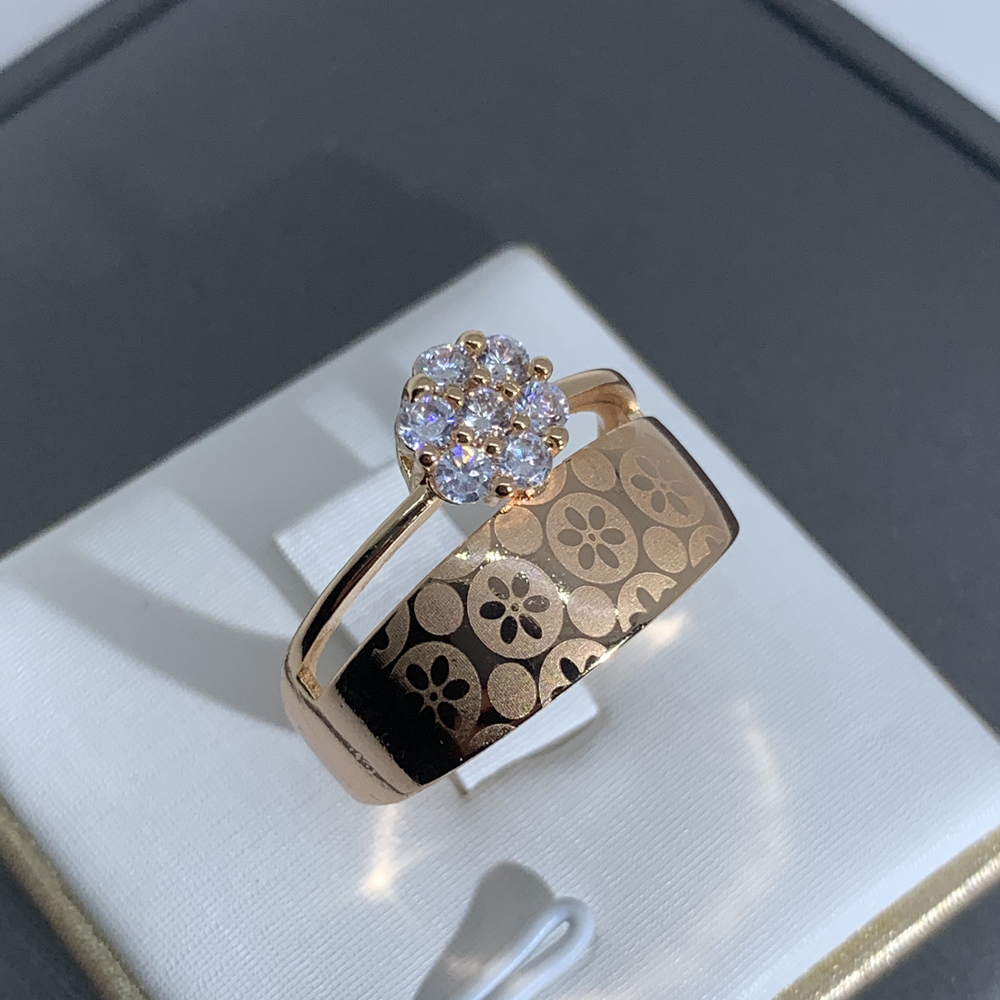 LUALA Shiny Clear Zircon Rose Gold Ring For Women Fashion Square Engagement Party Bride Wedding Luxury Jewelry Bijoux No Fade 5