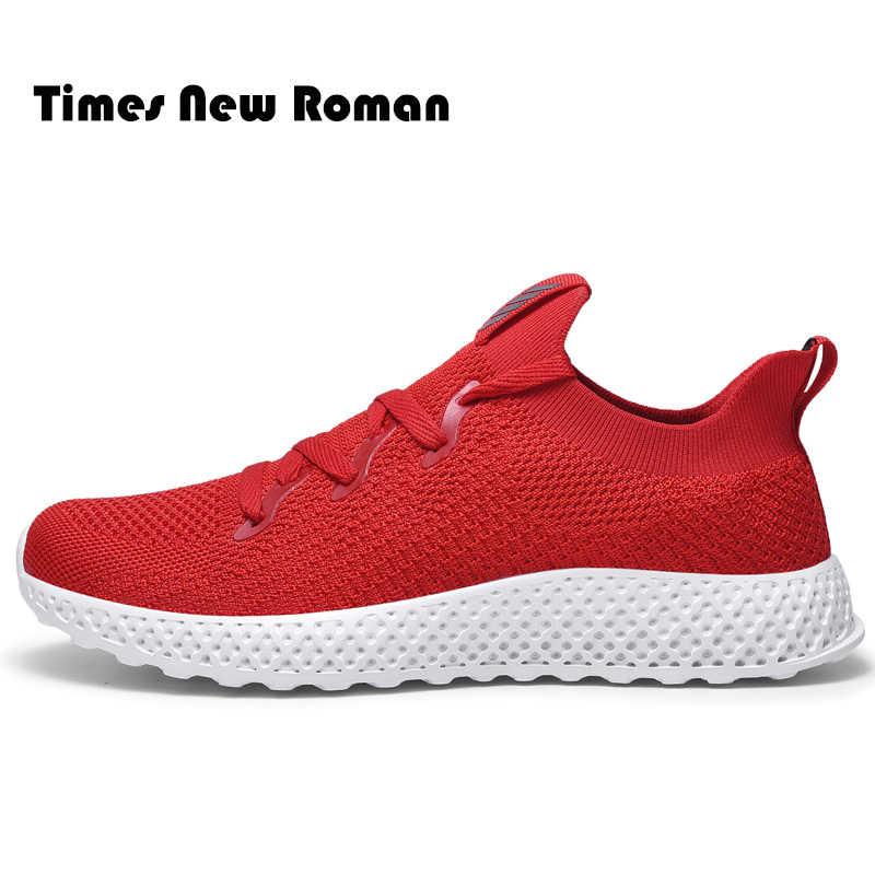 Times New Roman Männer Casual Schuhe Lace up Männer Schuhe Leichte Komfortable Atmungsaktive Wanderschuhe Turnschuhe Tenis Große Größe 39 ~ 46