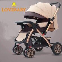 Baby Stroller 3 In1 High View Pram Landscape Baby