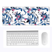 Flower pattern Rubber Mouse Pad Pattern 800*300*4M Pc Tablet Gamer Computer Laptop Mouse Pad Decorate Desk Pad цена и фото