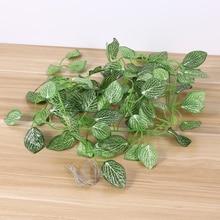 Artificial Plant Leaves Reptile Box Vine Reptile Climbing Habitat Leaves Decor