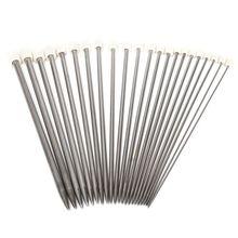 22 шт. 11 размеров из нержавеющей стали одинарные заостренные спицы для вязания крючком 2-8 мм