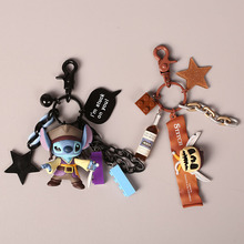 2020 New Korean cartoon cute doll key ring men and women creative car lovers key chainring bag pendant key ring creative pubg key chainring pan metal key chain car pendant game key ring surrounding men s and women s small gifts