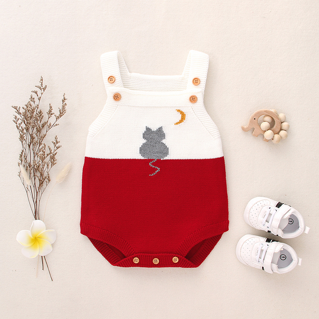Baby Knit Rompers Cartoon...