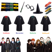 Potter Robe Cape Cloak Gryffindor Slytherin Ravenclaw Hufflepuff Cosplay Costumes Halloween Gifts For Kids Adult