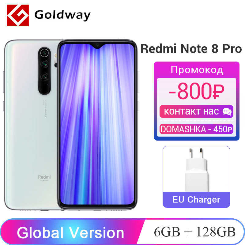 Global Versie Xiaomi Redmi Note 8 Pro 6Gb Ram 128Gb Rom Mobiele Telefoon 64MP Quad Camera Helio G90T octa Core 4500Mah Nfc