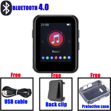 BENJIE X1 4GB / 8GB MP3 player full touch screen portable music player Bluetooth 4.0 FM radio with headphones, silicone case(China)