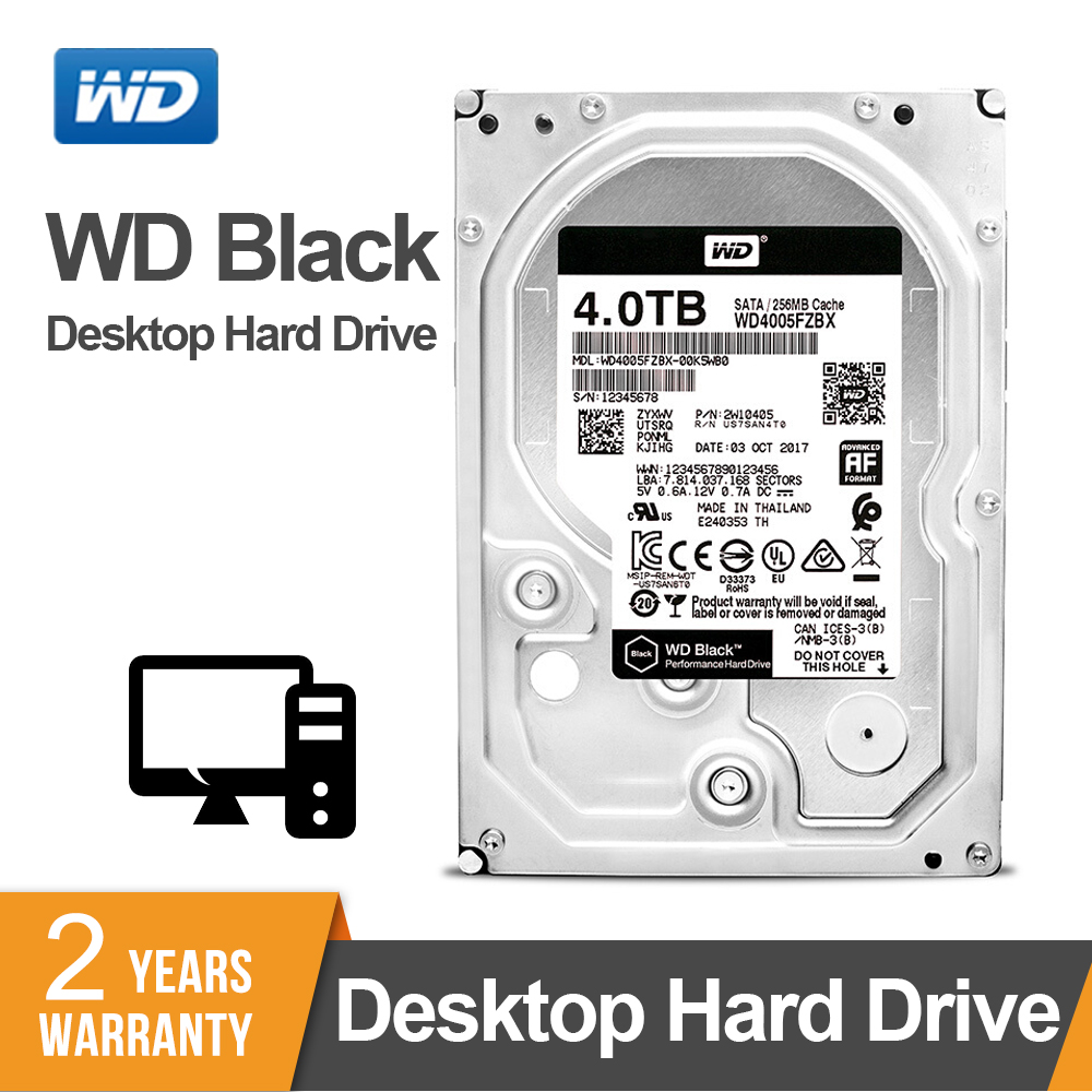 Western Digital WD noir 4 to 3.5