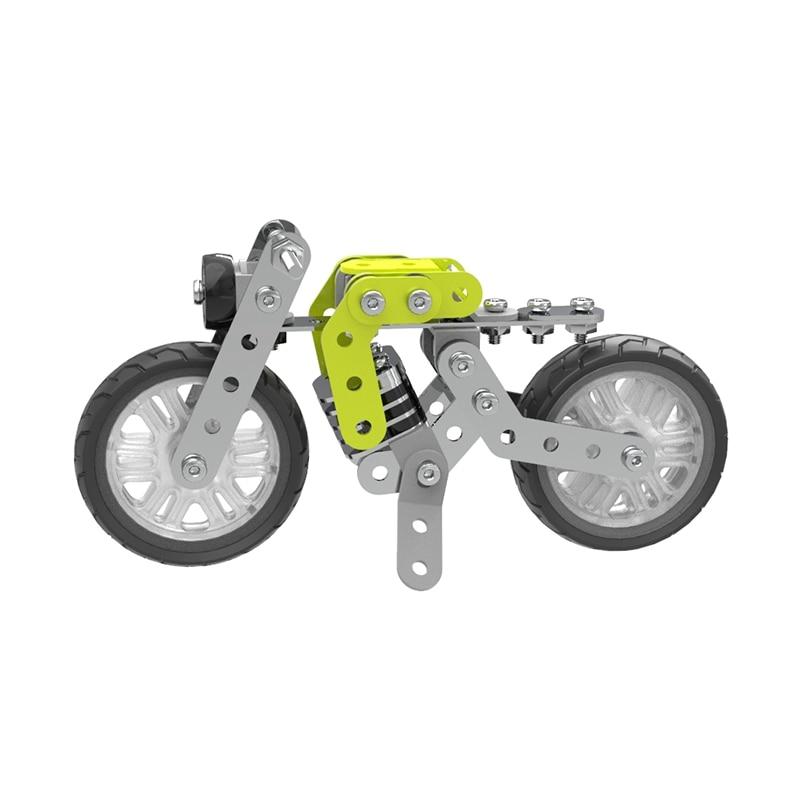 120Pcs DIY Assembling Motorcycle Metal Retro Motorcycle Motorbike Car Models Creative Building Blocks Gift Toys For Children