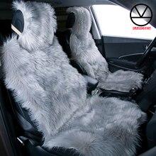KAWOSEN 2 ピース/セットロングフェイク毛皮のシートカバー、ユニバーサル人工ぬいぐるみカーシートは、 9 色かわいい豪華なシートクッション LFFS02