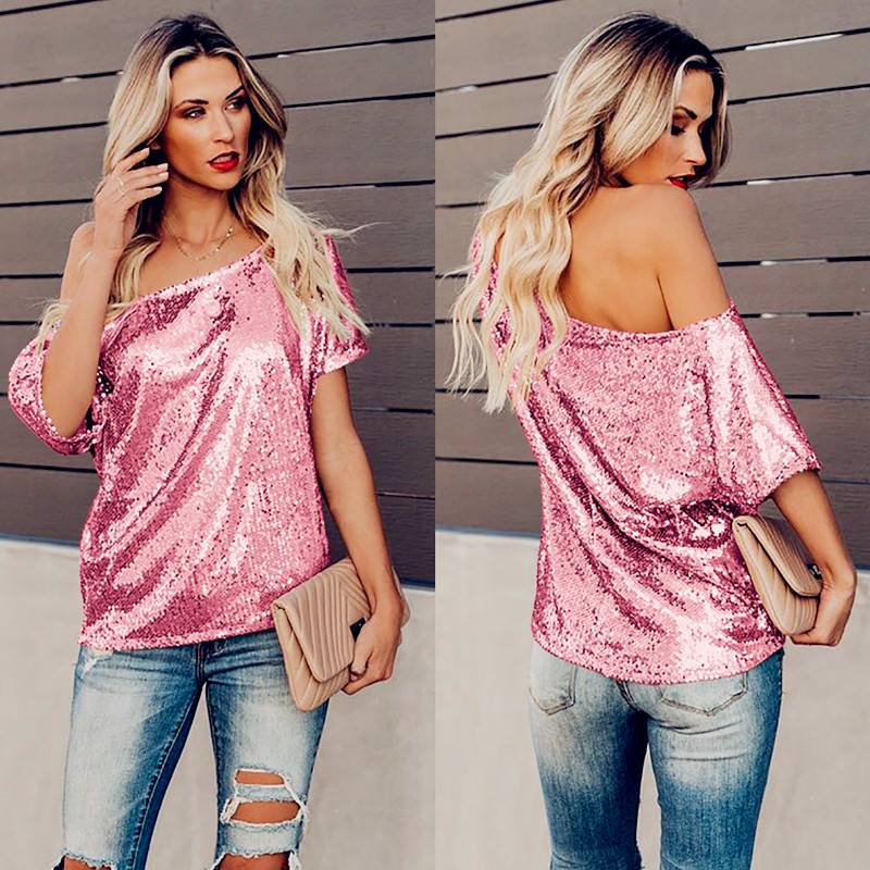 Summer Sequins Sexy Fashion Women Lace Spring Ruffles Tops Tees Plus Vintage Sizes Femme Shirts Blouse Befree Boho Casual