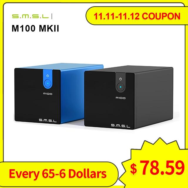 SMSL M100 MKII Digital USB DAC AK4452 DSD512 32bit/768kHz 106dB Optical SPDIF Aluminum desktop Audio XMOS Decoder
