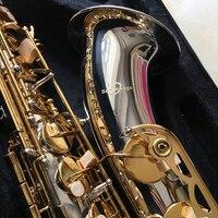 100% SevenAngel Brand Tenor Saxophone Bb tone Woodwind Musical Instrument Silver & gold Surface Sax