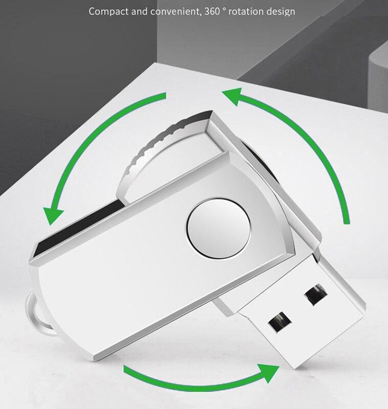 Hot Sale Metal USB Flash Drive Pendrive 128GB 64GB 32GB 16GB 8GB Flash Memory Stick Pen Drive Usb Stick Cle Usb Free Shipping