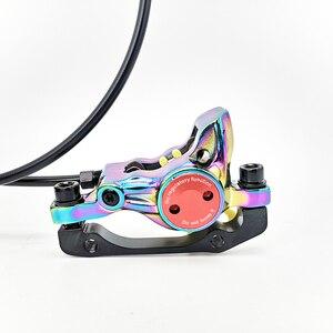 Image 5 - Arc en ciel, freins à disque hydrauliques de vélo, pour vtt, Kits de freins à disque à pression dhuile, colorés, 800/1400mm, VTT pinces à étrier