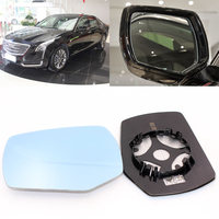 For Cadillac CT6 Car Side View Door Wide-angle Rearview Mirror Blue Glass With Base Heated 2pcs