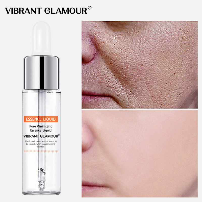 VIBRANT GLAMOUR Shrink Pores Face Serum Whitening Hyaluronic Acid Liquid Moisturizing Anti Wrinkle Face Essence Plant Skin Care
