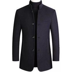 Casaco de tweed masculino, casaco de trincheira masculino, casaco de pai de meia-idade, casaco de tweed colarinho, casaco de lã de meia-idade e idade, casaco de tweed masculino