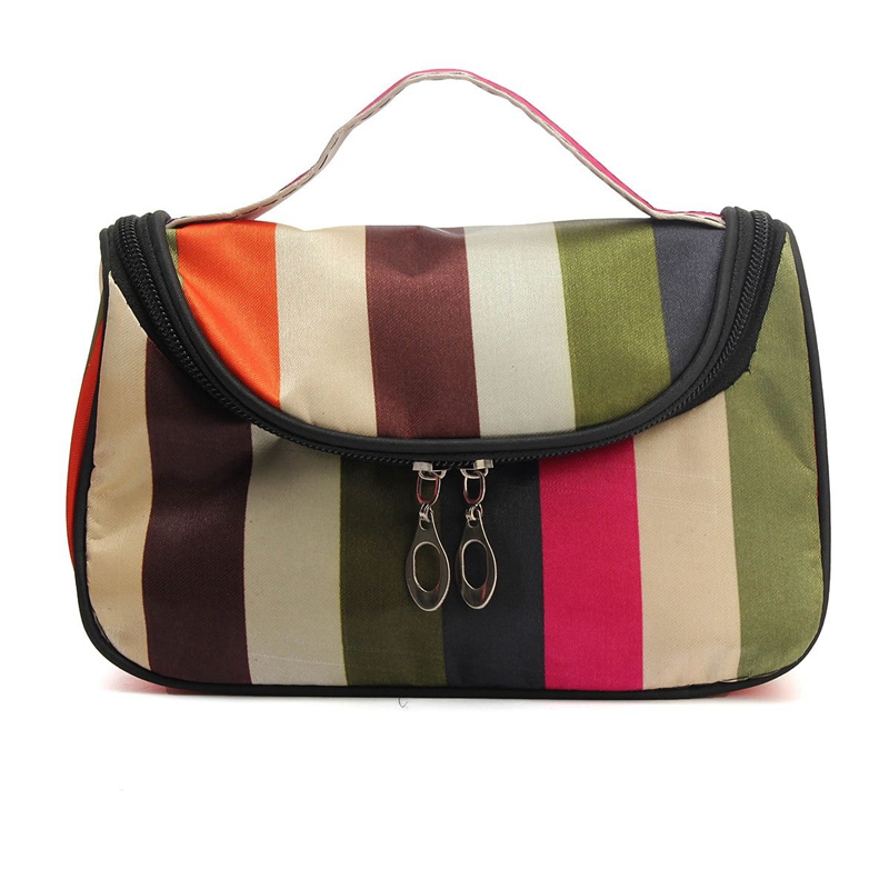 Cosmetic Bag Makeup Box With Double Zipper