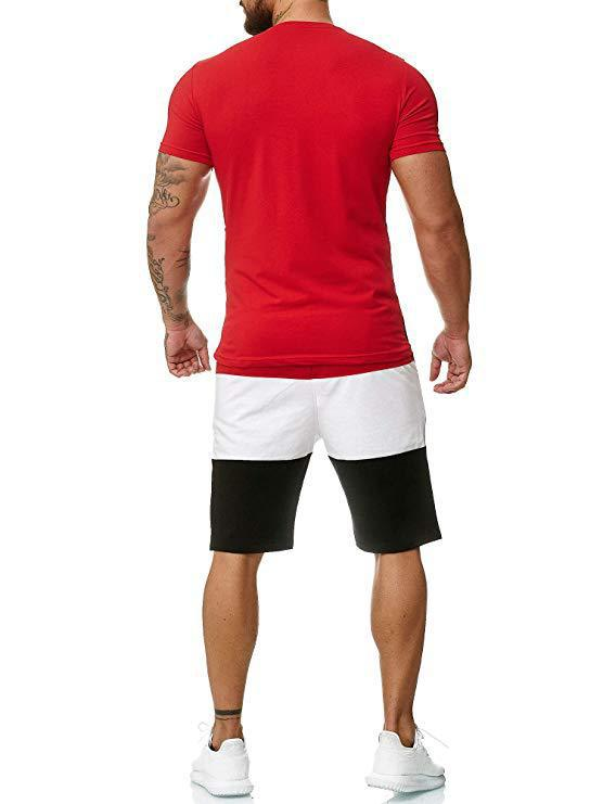 Shorts & T-Shirt Tracksuit for Men Mens Clothing Suits