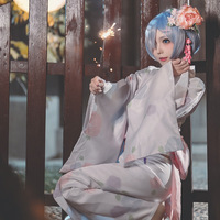Re:Zero Starting Life in Another World Rem Kimono yukata costumes Cosplay Party Animation Adult role play Costumes Full set