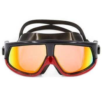 Profesjonalne okulary pływackie dorośli wodoodporne przeciwmgielne gogle pływackie mężczyźni kobiety silikon regulowany gogle pływackie okulary basenowe tanie i dobre opinie 3 7cm MULTI 5 5cm Pływać Poliwęglan Octan Professional Swimming Goggles Adults Waterproof Swim Anti Fog Glasses TAC+UV Anti-fog+Mirror