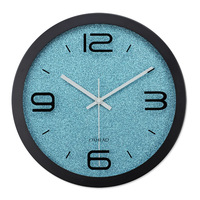 Office Metal Circle Wall Clock Sweep Mute Clock European Style Electronic Quartz Clock Fashion Simple Bedroom Wall Clock
