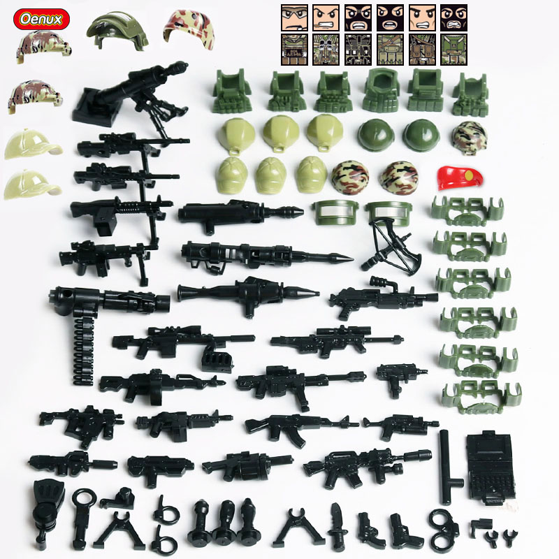 Oenux New Russian ALPHA Force Modern Military Figure MOC Small Building Block Brick Russian Special Force Army Brick Kids Toy