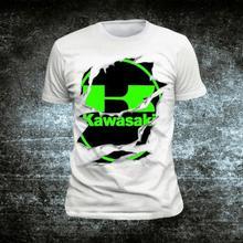 Полиэстер KAWASAKI Versys 1000 футболка мотоцикла Мото z1000 футболка мужская, с круглым вырезом Модные топы YY