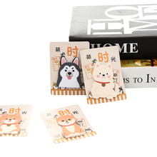 30pcs Creative Cartoon Dog memo sticker Name stickers Fridge Message Pasteable paper Sticky Notebook